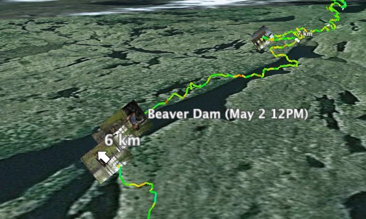 GPS track in Google Earth